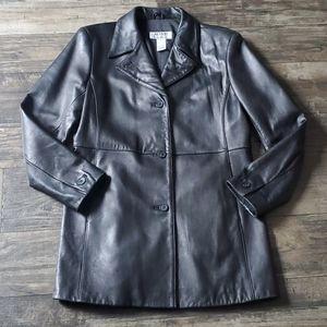 Vintage Alfani Petite Soft Leather Trench Coat